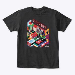 tricou negru Rocker's Inn